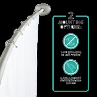 Maytex Mills Luminex Curved Aluminum Shower Curtain Rod - Brushed Nickel