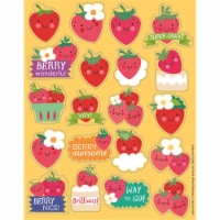 Strawberry Scented Stickers, Pack of 80 - 1