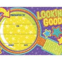 Eureka 1593733 Color My World Looking Good Recognition Awards, 8.50 x 5. 50 in.