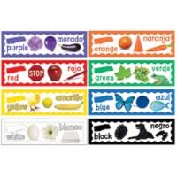 Colors Mini Bulletin Board Set, English-Spanish