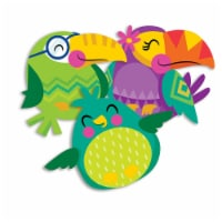 You Can Toucan Birds Assorted Paper Cut Outs, Pack of 36 - 1
