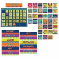 Plaid Attitude Calendar Bulletin Board Set, 83 Pieces - 1