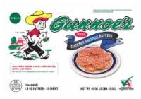 Gunnoe's Mild Country Sausage Patties 30 Count