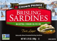 Crown Prince Two Layer Brisling Sardines in Olive Oil