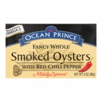 Ocean Prince Smoked Oysters With Red Chili Pepper