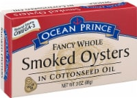 Crown Prince  Ocean Prince® Fancy Whole Smoked Oysters In Cottonseed Oil