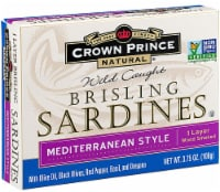 Crown Prince Natural Wild Caught Brisling Sardines Mediterranean Style
