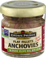 Crown Prince Natural Flat Fillet Anchovies In Pure Olive Oil