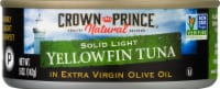 Crown Prince Natural Solid Light Yellowfin Tuna in Extra Virgin Olive Oil