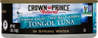 Crown Prince Natural Chunk Light No Salt Added Tongol Tuna In Spring Water