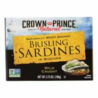 Crown Prince Brisling Sardines In Mustard - Case of 12 - 3.75 oz.