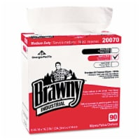 Brawny Industrial 20070-03 Medium-Duty Premium Wipes  9.25 x 16.38  White  90-Box - 1