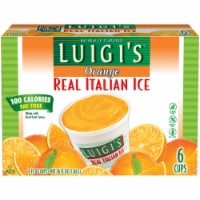Luigi's Orange Real Italian Ice - 6 ct / 6 fl oz