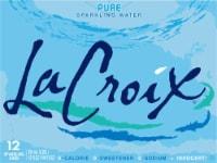 LaCroix Pure Sparkling Water - 12 cans / 12 fl oz
