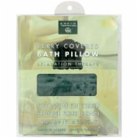 Earth Therapeutics Terry Covered Bath Pillow Dark Green - 1 Pillow - 1
