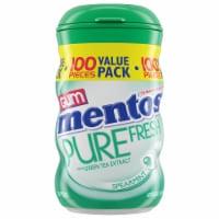 Mentos Pure Fresh Spearmint Sugar Free Chewing Gum 100 Count