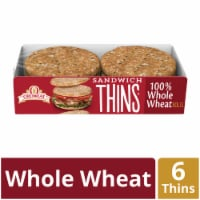 Oroweat 100% Whole Wheat Sandwich Thins 6 Count