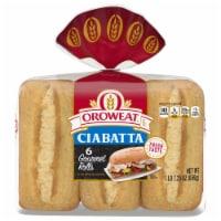 Oroweat Gourmet Ciabatta Buns - 6 ct / 23 oz