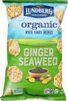 Lundberg Family Farms Organic Gluten-Free Ginger Seaweed Rice Cake Minis - 5 oz