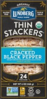 Lundberg Family Farms® Organic Thin Stackers Cracked Black Pepper Rice Cakes - 24 ct / 6 oz