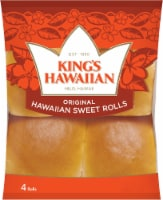 King's Hawaiian Original Hawaiian Sweet Rolls 4 Count