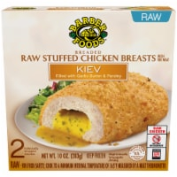 Barber Foods Kiev Garlic Butter & Parsley Breaded Raw Stuffed Chicken Breasts