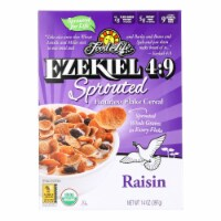 Food For Life Raisin Flake Cereal  - Case of 6 - 14 OZ