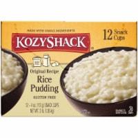Kozy Shack Gluten Free Original Recipe Rice Pudding Snack Cups 12 Count