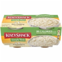 Kozy Shack Simply Well Rice Pudding Snack Cups