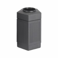 Safco Trash Can,30 gal.,Black,Plastic  9485BL - 1