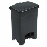 Safco Wastebasket,Rectangular,4 gal.,Black HAWA 9710BL
