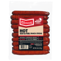 Klement's Hot Beef & Pork Snack Sticks
