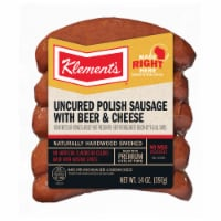 Klement's® Uncured Beer & Cheese Polish Sausage - 14 oz