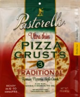 Pastorelli Ultra Thin Traditional 12 Inch Pizza Crusts 3 Count - 15 oz