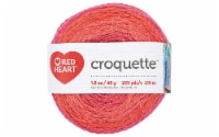 C&C Red Heart Croquette Yarn 1.58oz Red Hot - 1