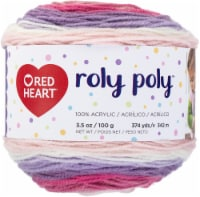Red Heart Roly Poly Yarn-Sweet Pea - 1