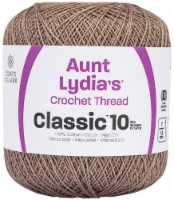 Aunt Lydia's Classic Crochet Thread Size 10-Taupe Clair - 1