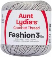 Aunt Lydia's Fashion Crochet Thread Size 3-Silver - 1