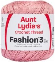 Aunt Lydia's Fashion Crochet Thread Size 3-Soft Mauve - 1