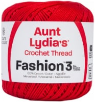 Aunt Lydia's Fashion Crochet Thread Size 3-Atom Red - 1