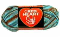 Red Heart Print Soft Yarn - Waterscape