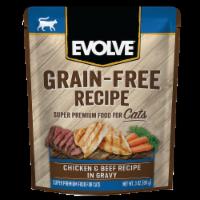 Evolve® Grain-Free Chicken & Beef Recipe in Gravy Wet Cat Food - 3 oz