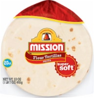 Mission Fajita Super Soft Flour Tortillas 20 Count