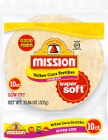 Mission Super Size Yellow Corn Tortillas 10 Count