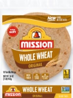 Mission 100% Whole Wheat Soft Taco Flour Tortillas 10 Count