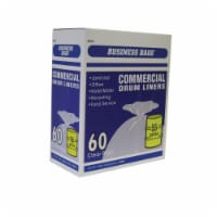 Iron-Hold 55 gal. Drum Liners Twist Tie 60 pk - Case Of: 1; Each Pack Qty: 60; Total Items - Count of: 1