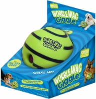 Wobble Wag Giggle, Interactive Dog Toy, Fun Giggle Sounds When Rolled or Shaken