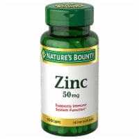 Nature's Bounty Zinc Caplets 50mg 100 Count