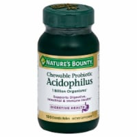 Nature's Bounty Probiotic Acidophilus Chewable Wafers 100 Count