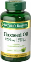 Nature's Bounty Flaxseed Oil Omega-3 540 mg Rapid Release Softgels 1200mg